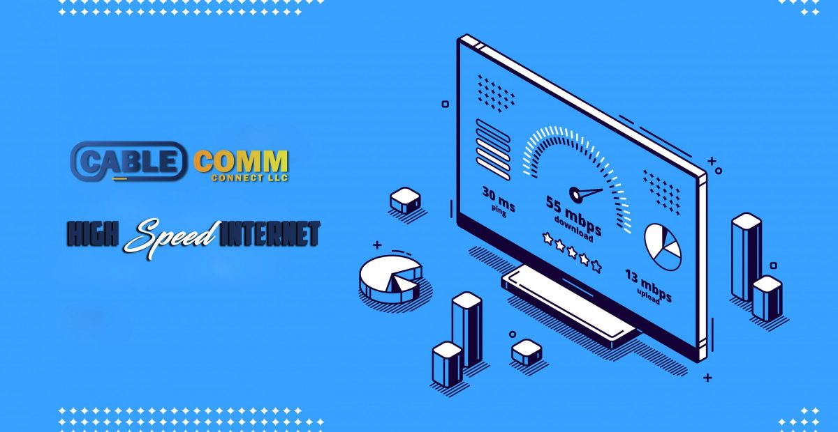 Website loading speed test banner. Fast download of web page. Vector landing page of internet loading optimization with isometric icon of speedometer on computer screen on blue background